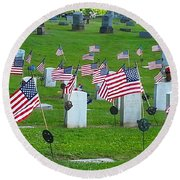 Memorial Day Salute Round Beach Towel