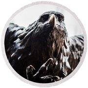 Memorial Eagle Round Beach Towel