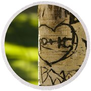 Memories In The Aspen Tree Round Beach Towel by James BO  Insogna