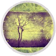 Memories Like Trees Round Beach Towel