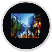 Memories Of Paris Round Beach Towel