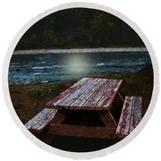 Memories Of Summers Past Round Beach Towel
