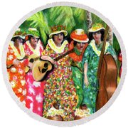Memories Of The Kodak Hula Show At Kapiolani Park In Honolulu #20 Round Beach Towel