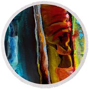 Memory From Africa 01 Round Beach Towel