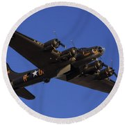 Memphis Belle Round Beach Towel