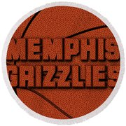 Memphis Grizzlies Leather Art Round Beach Towel