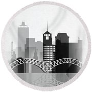 Memphis, Tennessee Skyline  Round Beach Towel