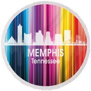 Memphis Tn 2 Squared Round Beach Towel