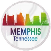 Memphis Tn Round Beach Towel