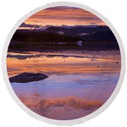 Mendenhall Sunset Round Beach Towel