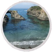 Mendicino County Viewpoint Round Beach Towel
