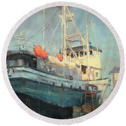 In Dry Dock Round Beach Towel