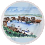 Menemsha Safe Haven Round Beach Towel