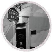 Menger Bar Round Beach Towel