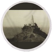 Mennie, Donald The Grandeur Of The Gorges. Fifty Photographic Studies... Of China's Great Waterway,  Round Beach Towel
