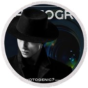 Mens Fashion Photography Are You Photogenic Round Beach Towel