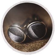 Mens Formalwear Cufflinks Round Beach Towel