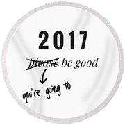 New Year Round Beach Towel