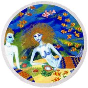 Mer Quarrel Round Beach Towel
