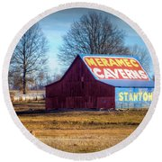Meramec Caverns Barn Round Beach Towel