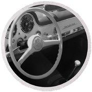 Mercedes 300sl Dashboard Round Beach Towel