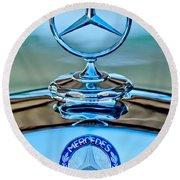 Mercedes Benz Hood Ornament Round Beach Towel