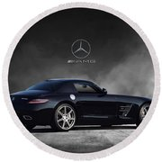 Mercedes Benz Sls Amg Round Beach Towel