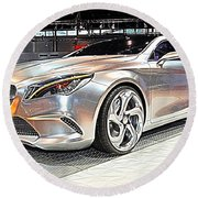 Mercedes Benz Style Coupe Concept Number 2 Round Beach Towel