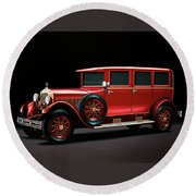 Mercedes-benz Typ 300 Pullman Limousine 1926 Painting Round Beach Towel
