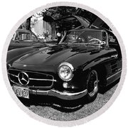 Mercedes Gull Wing Coupe Round Beach Towel