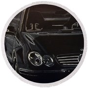 Mercedes Sl  Round Beach Towel