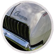 Mercury Cougar Xr7 Emblem Round Beach Towel