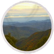 Mercy Me- A Fall View Of Craggy Gardens Nc Round Beach Towel