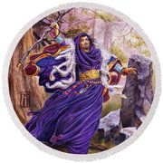 Merlin Round Beach Towel