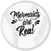 Mermaid Art Round Beach Towel