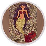 Mermaid Dreams Round Beach Towel