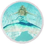 Mermaid Escape 2 Round Beach Towel