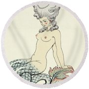 Mermaid, From Les Liaisons Dangereuses  Round Beach Towel