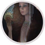 Mermaid Round Beach Towel by Jane Whiting Chrzanoska