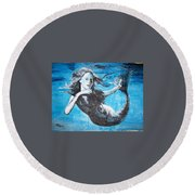 Mermaid Life Round Beach Towel