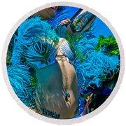 Mermaid Parade Participant Round Beach Towel