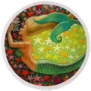 Mermaid's Circle Round Beach Towel