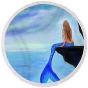 Mermaids Lovely Oasis Round Beach Towel