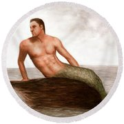 Merman Reef Round Beach Towel