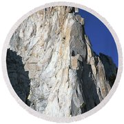 Merriam Peak, Sierra Nevada, August 2016 Round Beach Towel