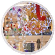 Merry Christmas 2 Round Beach Towel