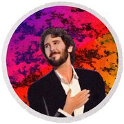 Merry Christmas Josh Groban Round Beach Towel