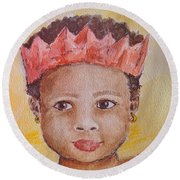 Merry South African Christmas Round Beach Towel