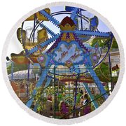 Merry Wheel Round Beach Towel