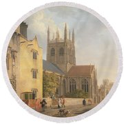 Merton College - Oxford Round Beach Towel